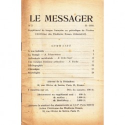 Le messager orthodoxe n° 2 Année 1958