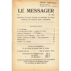 Le messager orthodoxe n° 3 Année 1958