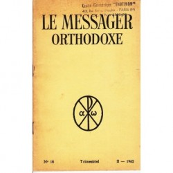 Le messager orthodoxe n° 18 Année 1962