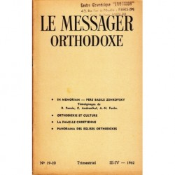 Le messager orthodoxe n° 19 Année 1962