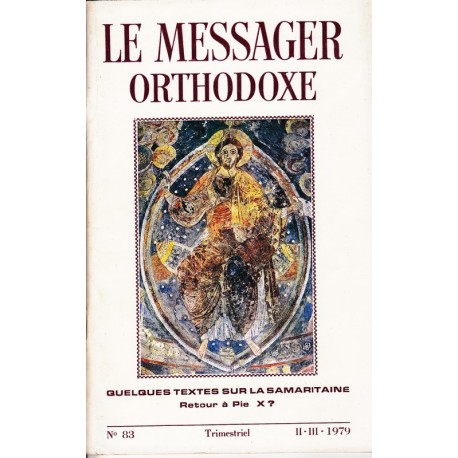 Le messager orthodoxe n° 83 Année 1979